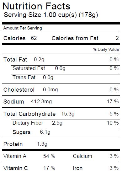 Roasted Squash Soup Nutrition Facts